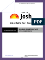 Ssc Ssc Cgl 2013 Question Paper (Morning Session)