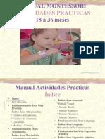 Manual Montessori (Actividades Practicas)