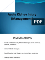 Acute Renal Failure (Diagnosis Approach and Management
