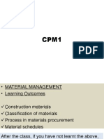 CPM1 Materials Management