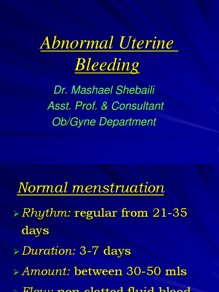 Abnormal Uterine Bleeding | Menstrual Cycle | Ovarian Cancer