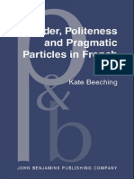 Kate Beeching Gender, Politeness and Pragmatic Particles in French (Pragmatics & Beyond New) 2001