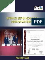 Presentación Sistema de Calidad - noviembre 2005