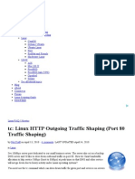 Linux HTTP Outgoing Traffic Shaping (Port 80 Traffic Shaping)