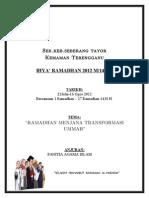 Kertas Kerja Ihya Ramadhan