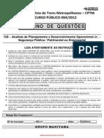 Analista de Planejamento e Desenvolvimento Operacional Jr. - Segurança Pública - Patrimonial ou Empresarial