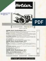 Holder Preisliste Einachser EDII 1955-4Seiten-Ws