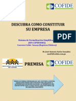Formalizacion de Empresas Jose Anton