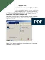 Tutoriales de Los Servicios Web,Ftp,DNS,Dhcp,Wins,Ssh,Terminal Server.