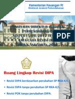 Slide Sosialisasi Revisi DIPA (Perdirjen 15 Tahun 2012)