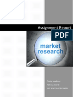 Market research assginment
