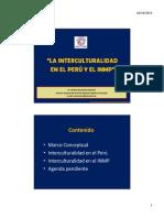 2 Interculturalidad en El Peru - Dr Mascaro