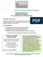 Substance Abuse Prevention Ethics Training