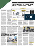 Los helicópteros ultra ligeros como una opción para evitar el tráfico de Lima
