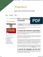 1- Onde o Assembly age_ Níveis de abstração na Computação - Assembly Progressivo