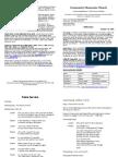 CMC Bulletin 10-18-2009