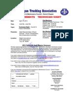 MTA Equipment & Maintenance Council Detroit Chapter April 2014 Meeting Notice TECH NIGHT