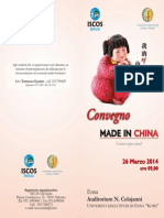 """Convegno """"Made in China. Il Nuovo Sogno Cinese?"""""""