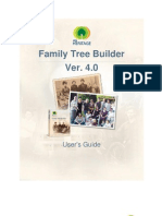 Family Tree Builder User Guide 4.0 English