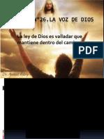 LECCIÓN No 26 LA VOZ DE DIOS