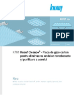 Placa Knauf Cleaneo Akustik