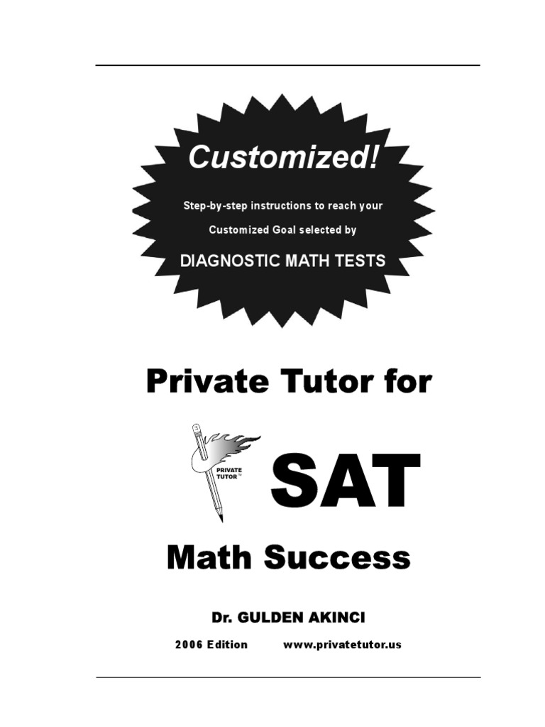 SAT Math Preparation Book (400 Pages)