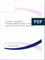 Probabilistic Reliability Model for Thermally Aged Cast Austenitic SS Piping