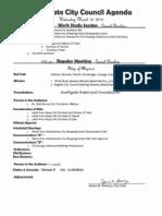 Southgate City Council agenda 3-19-2014