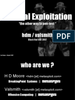 Tactical Exploitation - The Other Way to Pentest
