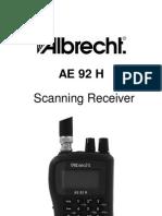 Albrecht AE92H Manual