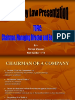 Managerial Personnel of a Company