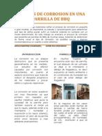 Analisis de Corrosion en Una Parrilla de Bbq