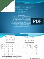Ppt Sistem Linier Nonhomogen Nontrivial