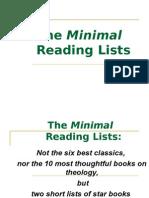 Bib4. Two Minimal Reading Lists (10 & 6 Books) WEB v