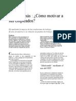 Pet Una Vez Mas Como Motivar a Los Empleados. Ing. Sergio Barrios c1