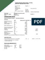 Essar Pump Data 208810