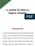 classification BI-RADS du cancer du sein