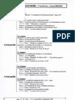 2º Bachillerato. Programación Historia PAU.