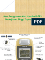 Asas Penggunaan Alat Handheld GPS Berkejituan Tinggi Topcon