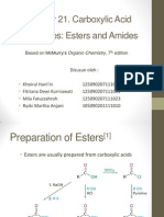 Preparation of Esters