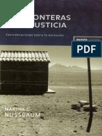 Nussbaum Martha - Las Fronteras de La Justicia_Consideraciones sobre la exclusión 2006