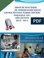 Historia de La Radio en Mundo - Cinthia Flores