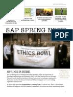 SAP Spring 2014 Newsletter
