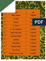 Daftar Nama Npm Genap