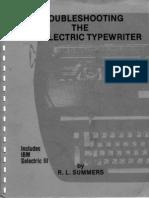 Troubleshooting the IBM Selectric Typewriter