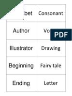Academic Vocabulary Cards