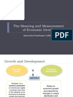 The Meaning and Measurement of Economic Development