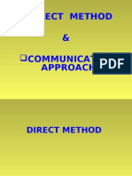 Direct Method & Communicative Approach