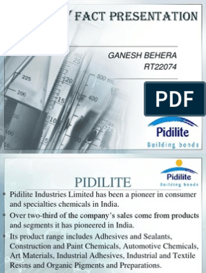 Pidilite Cfp Adhesive Mergers And Acquisitions