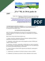 Portaria SRF 782